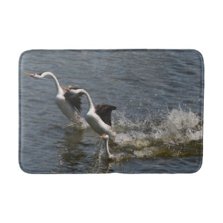 Clarks Grebe Bird Wildlife Animal Wetland Bath Mat