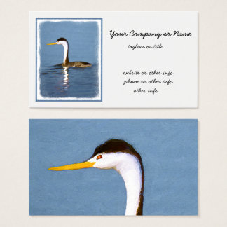 Clark's Grebe Business Card