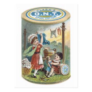 Clarks ONT Spool Cotton Postcard