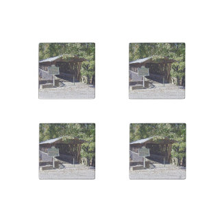 Clarkson–Legg Covered Bridge Primed Marble Magnets Stone Magnets