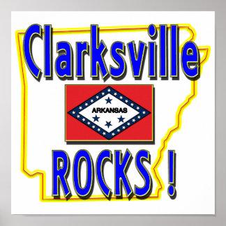 Clarksville Rocks ! (blue) Poster