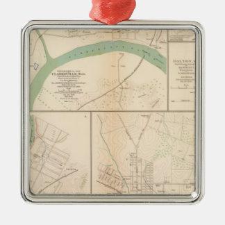 Clarksville, Tenn, Dalton, Ga Silver-Colored Square Ornament