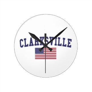 Clarksville US Flag Clock