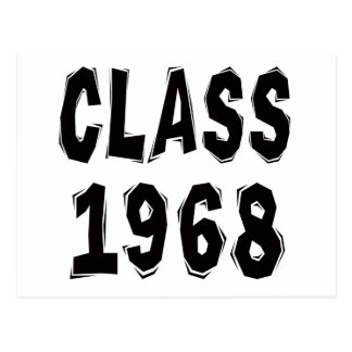 Class 1968 postcard