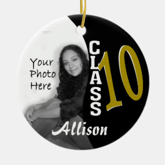 Class 2010 Graduation Photo Ceramic Ornament