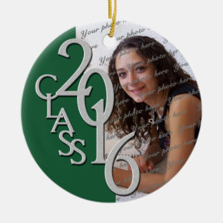 Class 2016 Graduate Photo Pine Ceramic Ornament