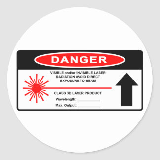 Class 3B Laser Warning Sticker