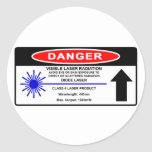 Class 4 445nm Laser Warning Sticker