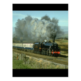 Class 5 No. 5407 crosses the other_Steam Trains Postcard