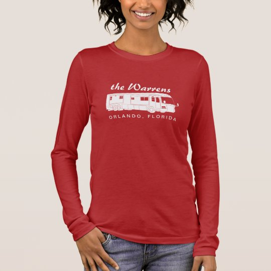 Class A Motorhome / Bus Silhouette Graphic Long Sleeve T-Shirt