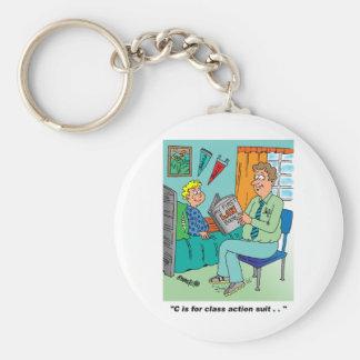 Class Action Cartoon Humor Keychain