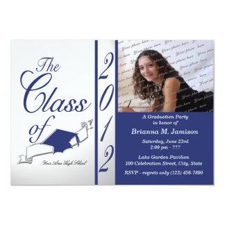 Class Graduation 2012 Royal Blue Invitations