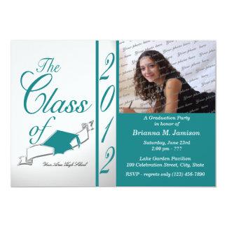 Class Graduation 2012 Teal Card