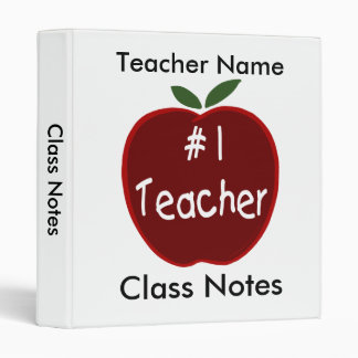 Class Notes for Teacher Binder