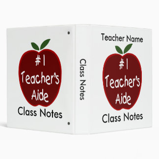 Class Notes for Teacher's Aide 3 Ring Binder