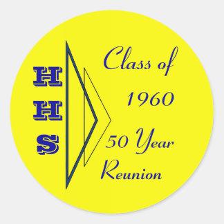 class of 1960 reunion classic round sticker