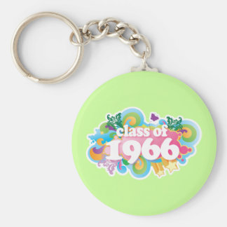 Class of 1966 basic round button keychain