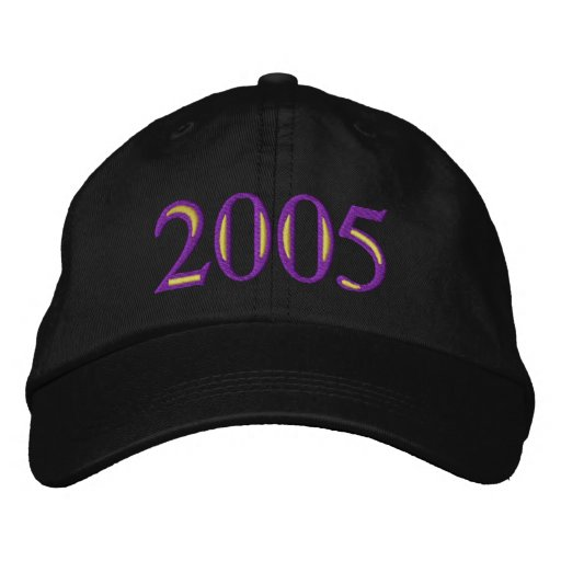 Class Of 2005 Embroidered Baseball Caps