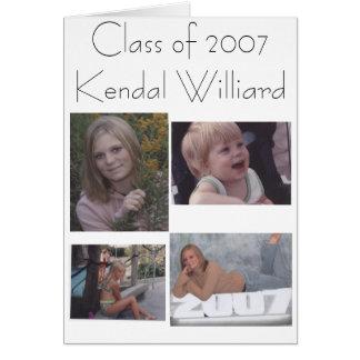 Class of 2007Kendal Williard Card