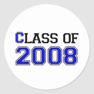 Class of 2008 classic round sticker