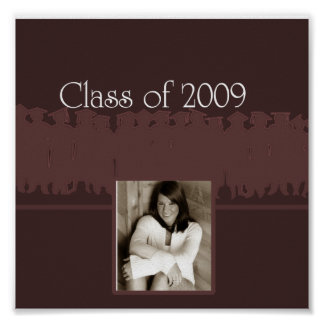 class of 2009 burgundy poster