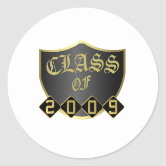 Class of 2009 Custom Postage Stamp Round Sticker