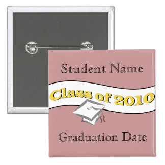 Class of 2010 2 inch square button