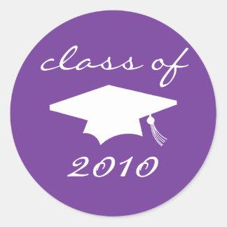 Class Of 2010 Label (Purple Graduation Cap)
