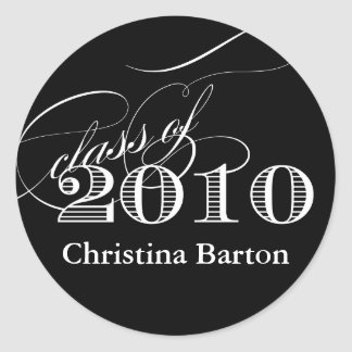 Class of 2010 Sticker- Customize it! Classic Round Sticker