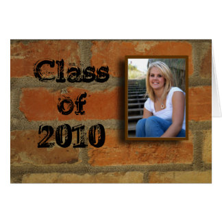 Class of 2010 thank you note card