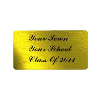 CLASS OF 2011-ADDRESS LABEL