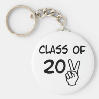 Class of 2011 basic round button keychain
