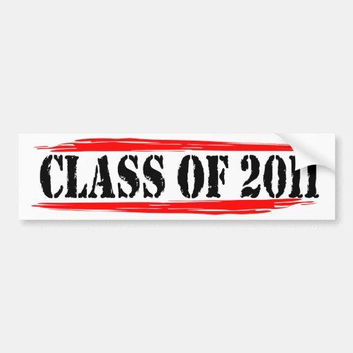 class of 2011 blk red bumper sticker
