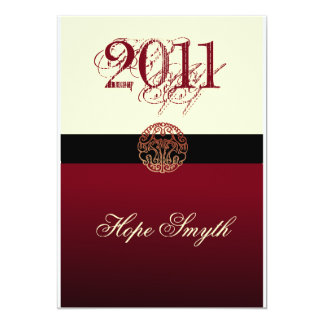 Class of 2011 Cream & Burgandy Card
