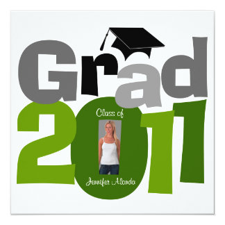Class Of 2011 Graduation Invitation CAP181 Green