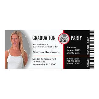 Class of 2011 Graduation Invitation TKT314 Ticket