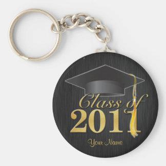 Class of 2011 Graduation Key-Chain (blk & gold) V1 Keychain