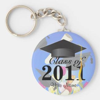 Class of 2011 Graduation Key-Chain blue Keychain