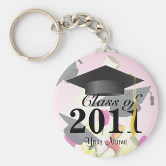 Class of 2011 Graduation Key-Chain Pink Keychain