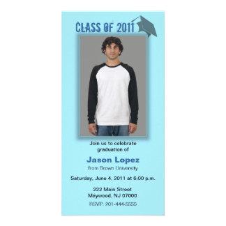 Class of 2011 Graduation Photo Card Blue Shadow