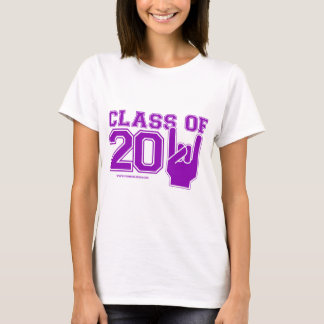 Class of 2011 graduation purple and white T-Shirt