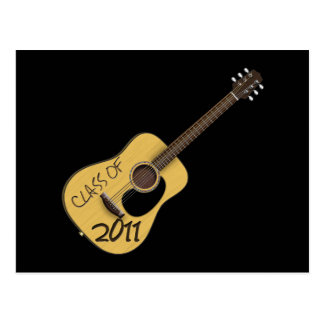 Class of 2011 Guitar Postcard