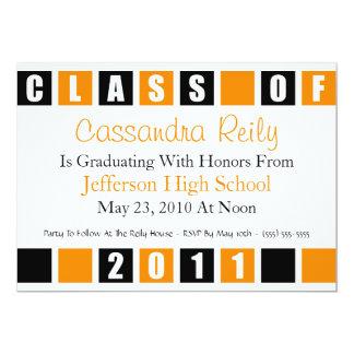 Class Of 2011 Invitation (Black / Orange Boxes)