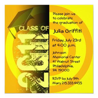 Class of 2011 Invitation CY224 Yellow Circle