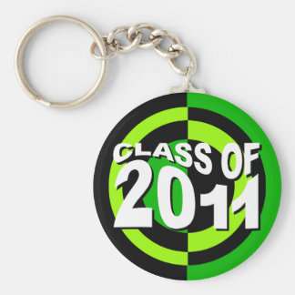 Class of 2011 Keychain Green Black