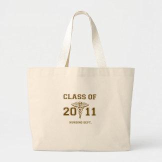 Class of 2011 Nursing School (mono) Large Tote Bag