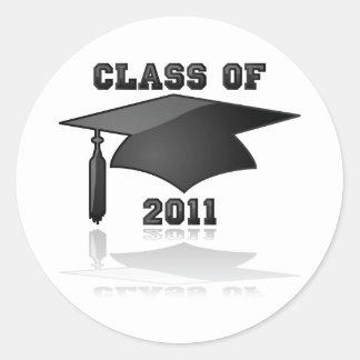 Class of 2011 round sticker