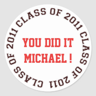 Class of 2011 school college graduation gift tag