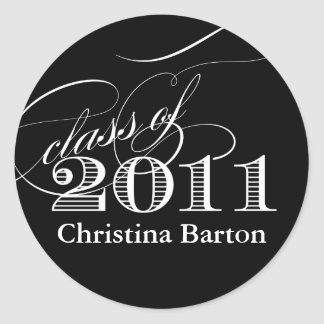 Class of 2011 Sticker- Customize it! Classic Round Sticker