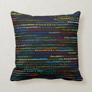 Class Of 2011 Text Design I Throw Pillow
